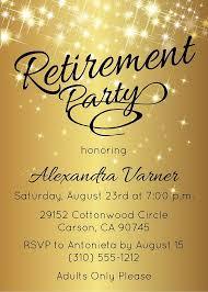 Retirement Celebration Invitation Template Retirement Party Invitation Gold Sparkly Retirement Invite By