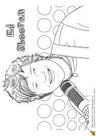 Dessin Coloriage Du Chanteur Ed Sheeran Coloring Coloring
