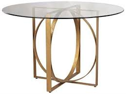 dimond home box rings 48 round gold leaf entry table