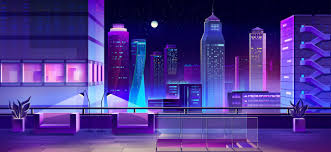 Lounge Area On City House Roof Cartoon Vector Free Download