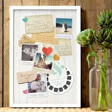a memory board paper gift ideas for your first wedding anniversary