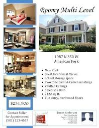 Sample Flyer With Real Estate Agent Information Free Templates House ...