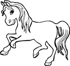 Small Picture Coloring Pages Horse Stallion Coloring Page Free Printable