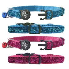 breakaway adjustable designer leather cat collar with safety elastic and bell