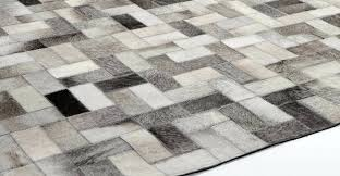 flooring small gray parquet cowhide patchwork rug for contemporary interior rugs close view of best faux cowhide rug
