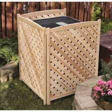 Lattice Air Conditioner Screen Castlecreek Air Conditioner Screen 676471 Yard Garden At