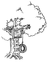 Coloring Pages Ideas Tree House Coloring Pages For Kids Printable