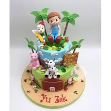 Barnyard Farm Animals For Baby Boy 1st Birthday Singaporecake Food