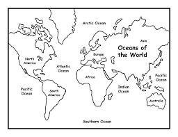 World Map With Continent Names Fresh Blank Seven Continents Map
