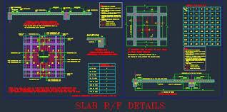 Rcc Two Way Slab Design Typical Slab Reinforcement Structure Design Detail Autocad
