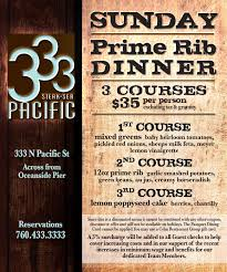 prime rib dinner flyer. Exellent Rib Enjoy A 3course Prime Rib Dinner Featuring 12oz Prime Rib Served With  Garlic Smashed Potatoes Green Beans And Creamy Horseradish For 35 Per Person  And Dinner Flyer