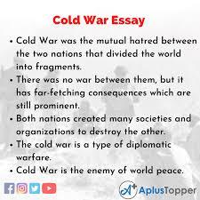 cold war essay essay on cold war for