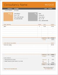 Sample Of Invoice For Consulting Services Consultant Invoice Template For Excel