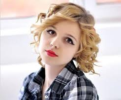 short curly hairstyles for square faces