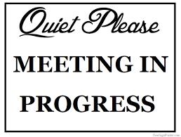 Do Not Disturb Meeting In Progress Sign Meeting In Session Door Sign Arts Arts