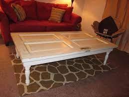 diy old doors turn into coffee table