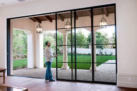 steel pocket sliding doors