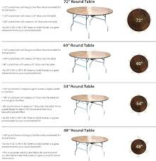 what size tablecloth for a 5ft round table how many inches is 5 foot ideas designs