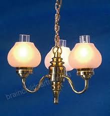 melody jane dollhouse chandelier white globe shades miniature electric light b0765xmtpn