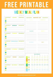 Free Weekly Meal Planner With Grocery List Menu Planner Shopping List Template Tsurukame Co