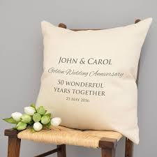 personalised golden wedding anniversary cushion by a type of design notonthehighstreet