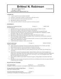 Daycare Teacher Resume Sample Objective Ideas Of Child Care ...