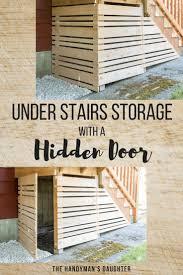 Deck Designs With Storage Underneath Under Deck Storage With Removable Fence Panel Garage