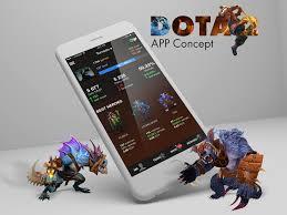 dota 2 app concept by alexander vi dribbble