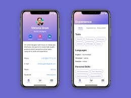 App Resume Resume App By Viktoria Grom On Dribbble