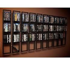 wall mounted dvd shelves 2 black lerberg cd rack shelf within storage inspirations 17