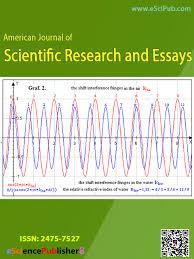 n journal of scientific research american journal of scientific research and essays