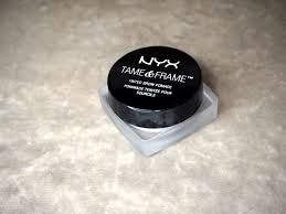 nyx tame frame pomade review brow tips