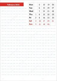 Calendario Fevereiro 2015