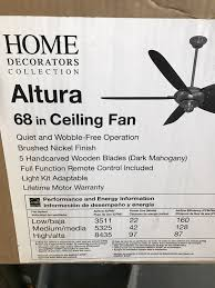 home decorators collection altura 68 in brushed nickel ceiling