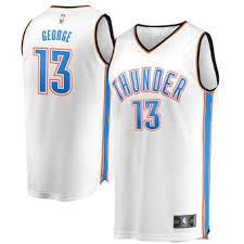 Westbrook Fanatics Branded - Russell Association Oklahoma City Fast Jersey Thunder Break Edition White Replica