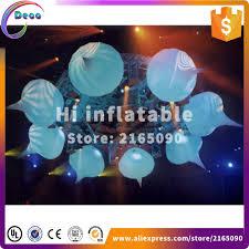 Us 1780 Innen Moderne Design Aufblasbare Hängen Led Kronleuchteraufblasbare Anhänger Beleuchtung Kugelfür Halle Dekoration In Ballons Zubehör