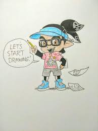 splat torial how to draw the inkling boy head
