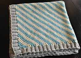 Super Easy Knit Baby Blanket Pattern