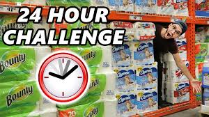 insane hour walmart toilet paper fort challenge insane 24 hour walmart toilet paper fort challenge