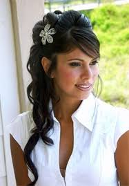 Wedding Hairstyles For Long Hair To The Side With Veil