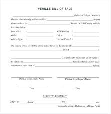 15 Example Bill Of Sale For Car Resume Cover