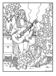 Small Picture 72 best Hippie Art Peace Signs Coloring Pages for Adults images