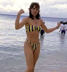 Young Kim Cattrall in a bikini : Celebrity_Abs
