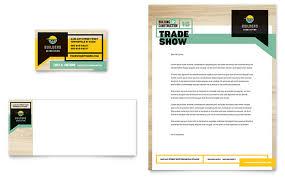 business card template designs builders trade show business card letterhead template design
