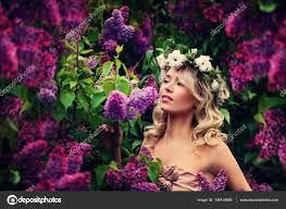Jarní Model Dívka S Dlouhou Bob účes Glamour žena S Bl Stock
