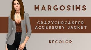 Gosia — Accessory Jacket recolor - @crazycupcakefr mesh is...