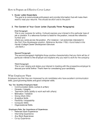 Effective Covering Letters How To Prepare An Effective Cover Letter