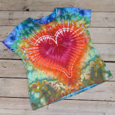 Tie Dye Heart Design I Give You My Rainbow Heart Ladies 3xl Tie Dye