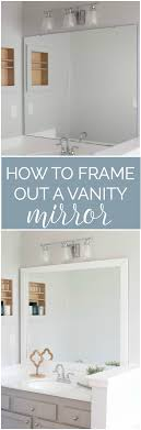Diy Mirror Projects How To Frame A Bathroom Mirror Easy Diy Project Vanities