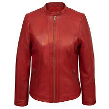 las red leather jacket trudy